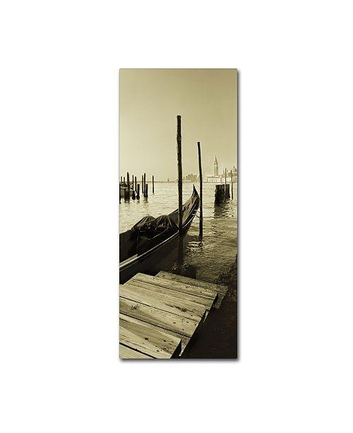 "Trademark Global Moises Levy 'Gondola and San Marco Antique' Canvas Art - 32"" x 14"" x 2"""