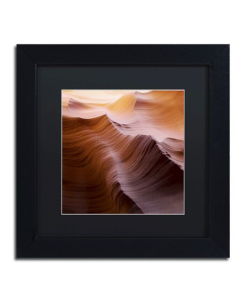 """Trademark Global Moises Levy 'Smooth I' Matted Framed Art - 11"""" x 11"""" x 0.5"""""""