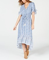 175a5d080289 American Rag Juniors' Printed High-Low Maxi Dress, Created for Macy's