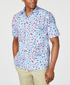 Tommy Bahama Men's Pesca Fiesta Stripe Fish-Print Camp Shirt