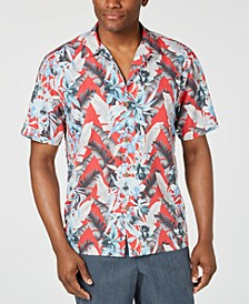 Men's Da Vinci Vines IslandZone Tropical-Print Camp Shirt