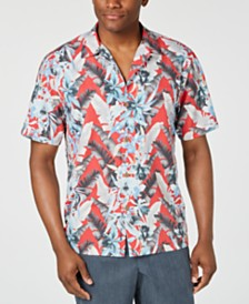 Tommy Bahama Men's Da Vinci Vines IslandZone Tropical-Print Camp Shirt