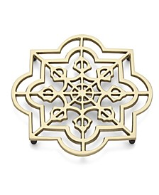 Global Tapestry Metal Trivet Quatrefoil