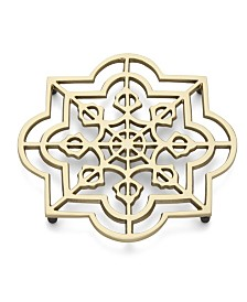 Lenox Global Tapestry Metal Trivet Quatrefoil