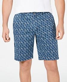 "Men's Oh My Geo 10"" Stretch Geo-Print Shorts"