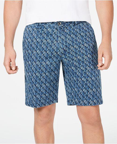 "Tommy Bahama Men's Oh My Geo 10"" Stretch Geo-Print Shorts"