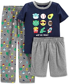 Carter's Little & Big Boys 3-Pc. Characters Pajamas Set