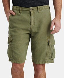Men's Linen Cargo Shorts