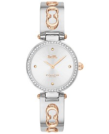 COACH Women's Park Two-Tone Stainless Steel Bangle Bracelet Watch 26mm
