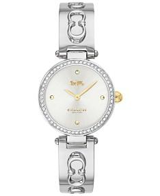 5db18b074556d COACH Women's Park Stainless Steel Bangle Bracelet Watch 26mm