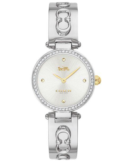 COACH Women's Park Stainless Steel Bangle Bracelet Watch 26mm
