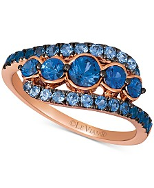 Le Vian Blueberry Layer Cake Blueberry Sapphire™ Statement Ring (1-1/5 ct t.w.) in 14k Rose Gold