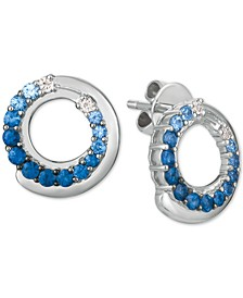 Blueberry Layer Cake Blueberry Sapphire (1 ct. t.w.) & Vanilla Sapphire (1/10 ct. t.w.) Stud Earrings in 14k White Gold