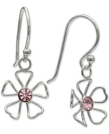 Giani Bernini Cubic Zirocnia Flower Earrings in Sterling Silver, Created for Macy's