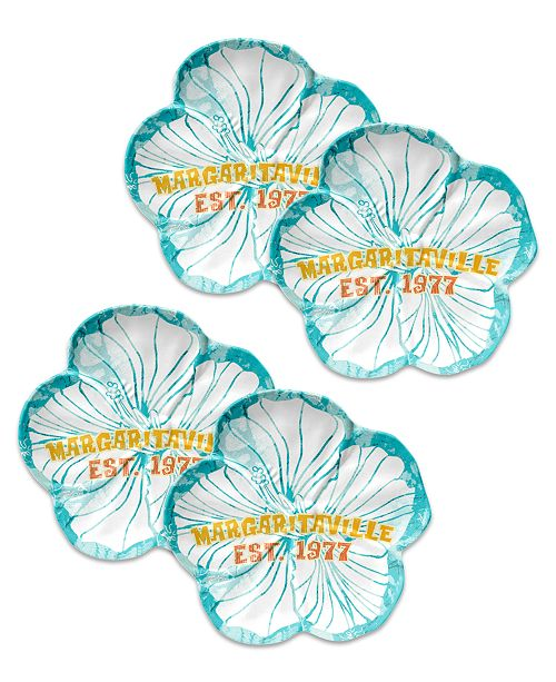 TarHong Hibiscus Cool Figural Side Plate, Set of 4