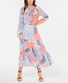Tommy Hilfiger Patchwork-Print Tops and Skirt
