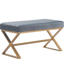 Elle Décor Aveline Upholstered Bench, Quick Ship