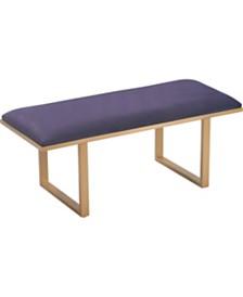 Elle Décor Remi Velvet Upholstered Bench, Quick Ship