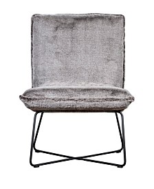 Elle Décor Bennie Armless Lounge Chair, Quick Ship