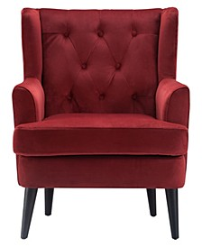 Elle Décor Celeste Tufted Velvet Accent Chair