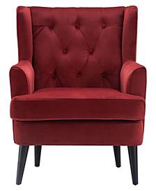Elle Décor Celeste Tufted Velvet Accent Chair, Quick Ship
