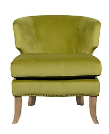 Tommy Hilfiger Swansea Wingback Barrel Chair, Quick Ship
