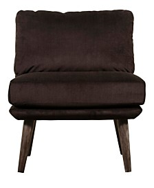 Elle Décor Sophie Armless Slipper Chair, Quick Ship