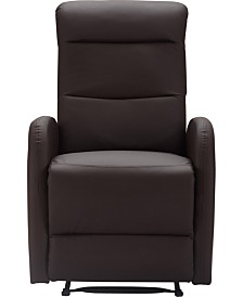 CLOSEOUT! Truly Home Bryson Bonded Leather Recliner Chair, Quick Ship