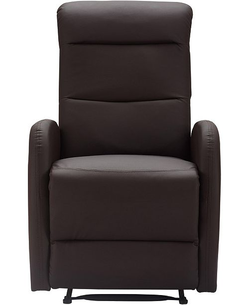 Outstanding Closeout Bryson Bonded Leather Recliner Chair Quick Ship Pdpeps Interior Chair Design Pdpepsorg