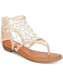 ZIGIny Madilyn Chain-Embellished Flat Sandals