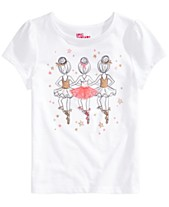 b154fae656 Epic Threads Toddler Girls Ballerinas-Print T-Shirt, Created for Macy's