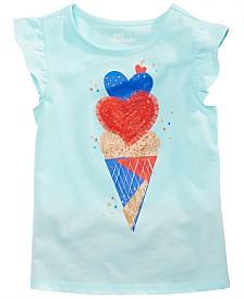 Epic Threads Little Girls Ice Cream Heart Flutter Top, Created for Macy's