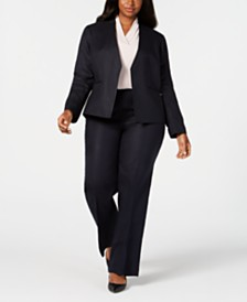 Calvin Klein Plus Size Blazer & Wide-Leg Pants