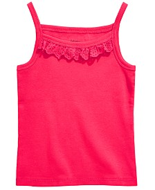 First Impressions Toddler Girls Eyelet Ruffle Camisole Cotton Tank Top, Created for Macy's