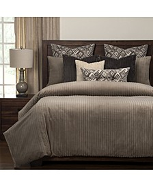 Downy Taupe 6 Piece Queen Luxury Duvet Set