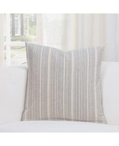 """Siscovers Cottage Pewter Farmhouse 20"""" Designer Throw Pillow"""