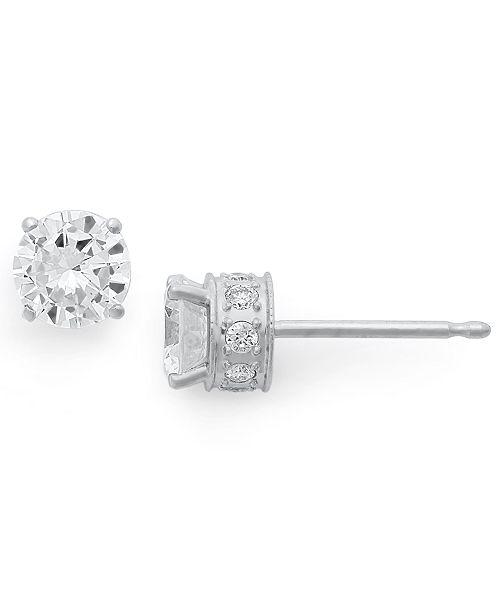 Macy's Diamond Filigree Stud Earrings in 14k White Gold (1 ct. t.w.)