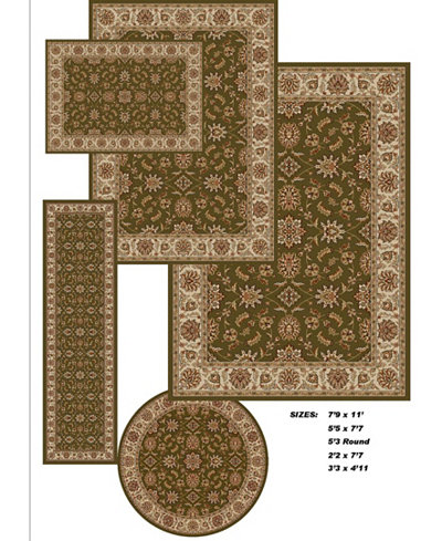 Km Home Area Rug Set Vienna Collection 5 Pc Set Meshed