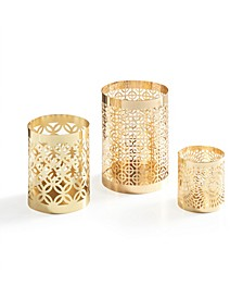 Set of 3 Filigree Candleholder Hurricanes