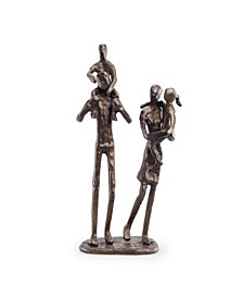Parents Carrying Children Bronze Sculpture