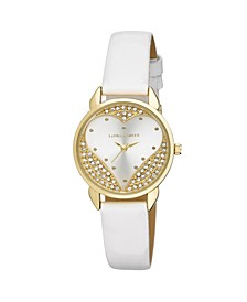 Designer White Hearts Watch