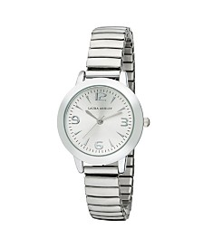 Laura Ashley Silver Stretch Bracelet Watch
