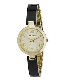Ladies' Black/Gold Resin Link Watch