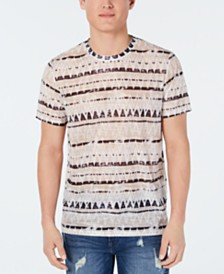 GUESS Men's Wynn Ziggy Geo-Stripe Graphic T-Shirt