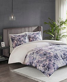 Madison Park Enza Full/Queen 3 Piece Cotton Printed Duvet Cover Set