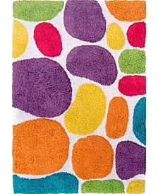 Plush Pebble Pattern Bath Rug