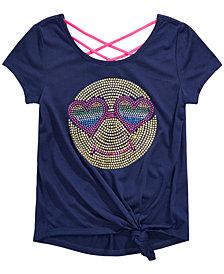 Beautees Big Girls Back-Strap Side-Knot T-Shirt