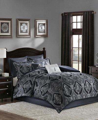 Madison Park Ingrid King 8 Piece Chenille Jacquard Comforter Set