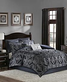 Madison Park Ingrid California King 8 Piece Chenille Jacquard Comforter Set