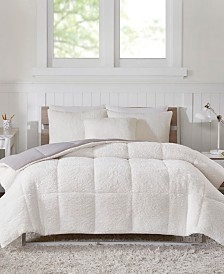 Intelligent Design Jensen King Reversible Sherpa to Softspun Flannel 3 Piece Comforter Mini Set
